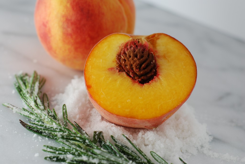 peaches and rosemary