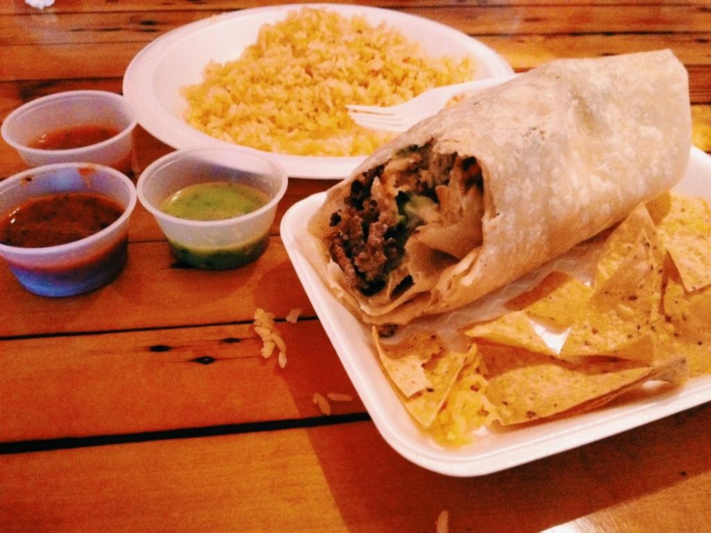 El Zarape California Burrito