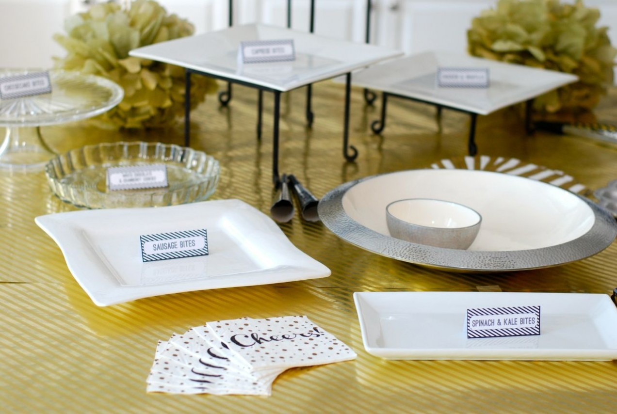 NYE Tablescape + Food Tent Card Template : food tent template - memphite.com