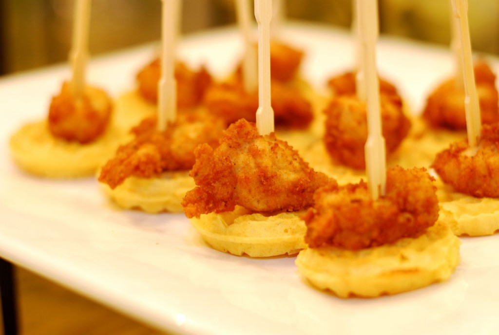 Mini chicken & waffles