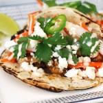Spicy Shrimp Bahn Mi tacos