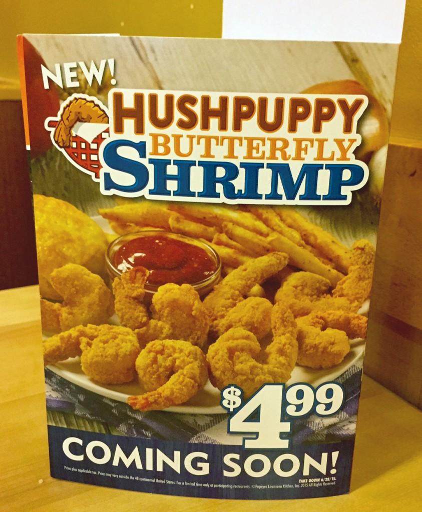 Popeyes Hushpuppy Butterfly Shrimp | getinmymouf.com