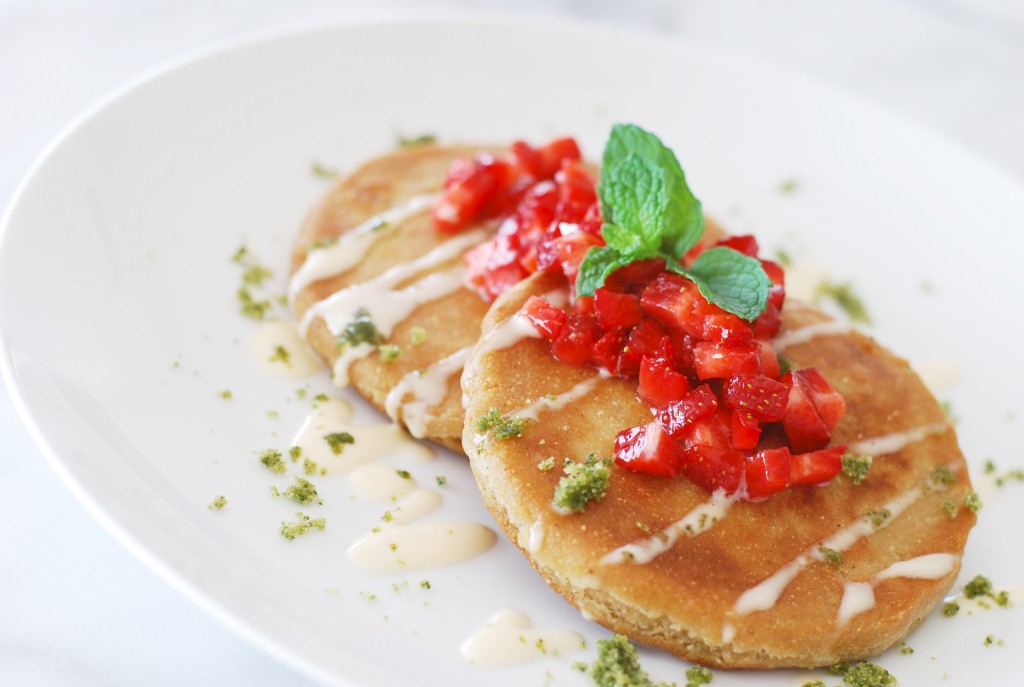 Roasted Strawberry Pupusas