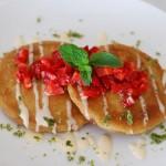 Roasted Strawberry Pupusas with Mint Sugar and Sweet Crema | getinmymouf.com